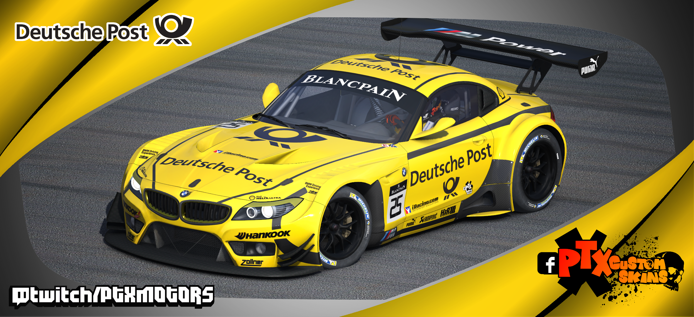 Deutsche Post Dtm Livery Bmw Z4 Gt3 By Samuel Almeida