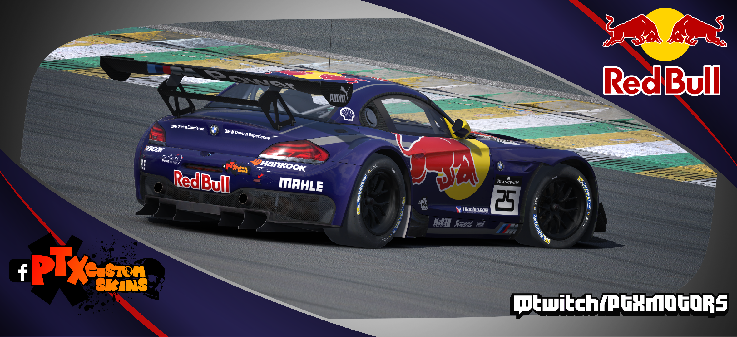 Red Bull Dtm Livery Bmw Z4 Gt3 By Samuel Almeida Trading Paints