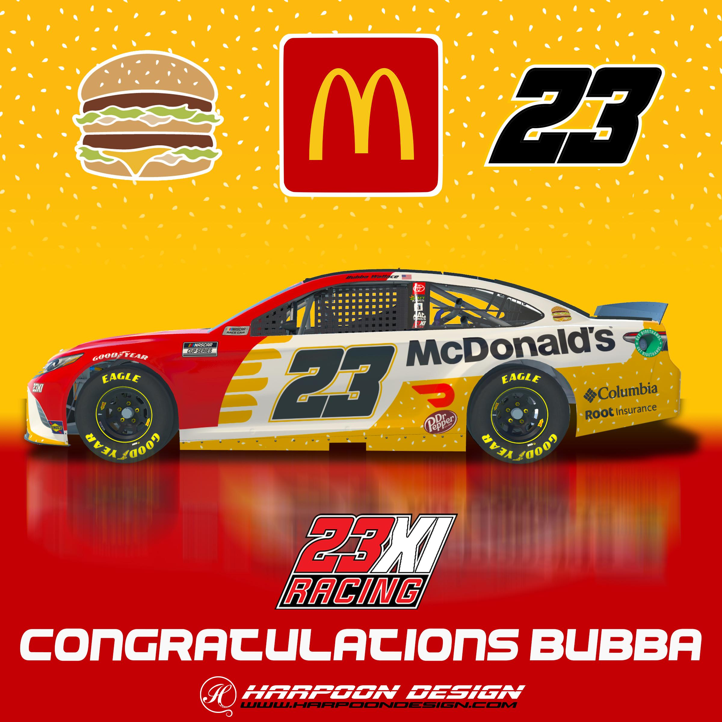 Preview of 2021 Bubba Wallace McDonalds Camry by Brantley Roden