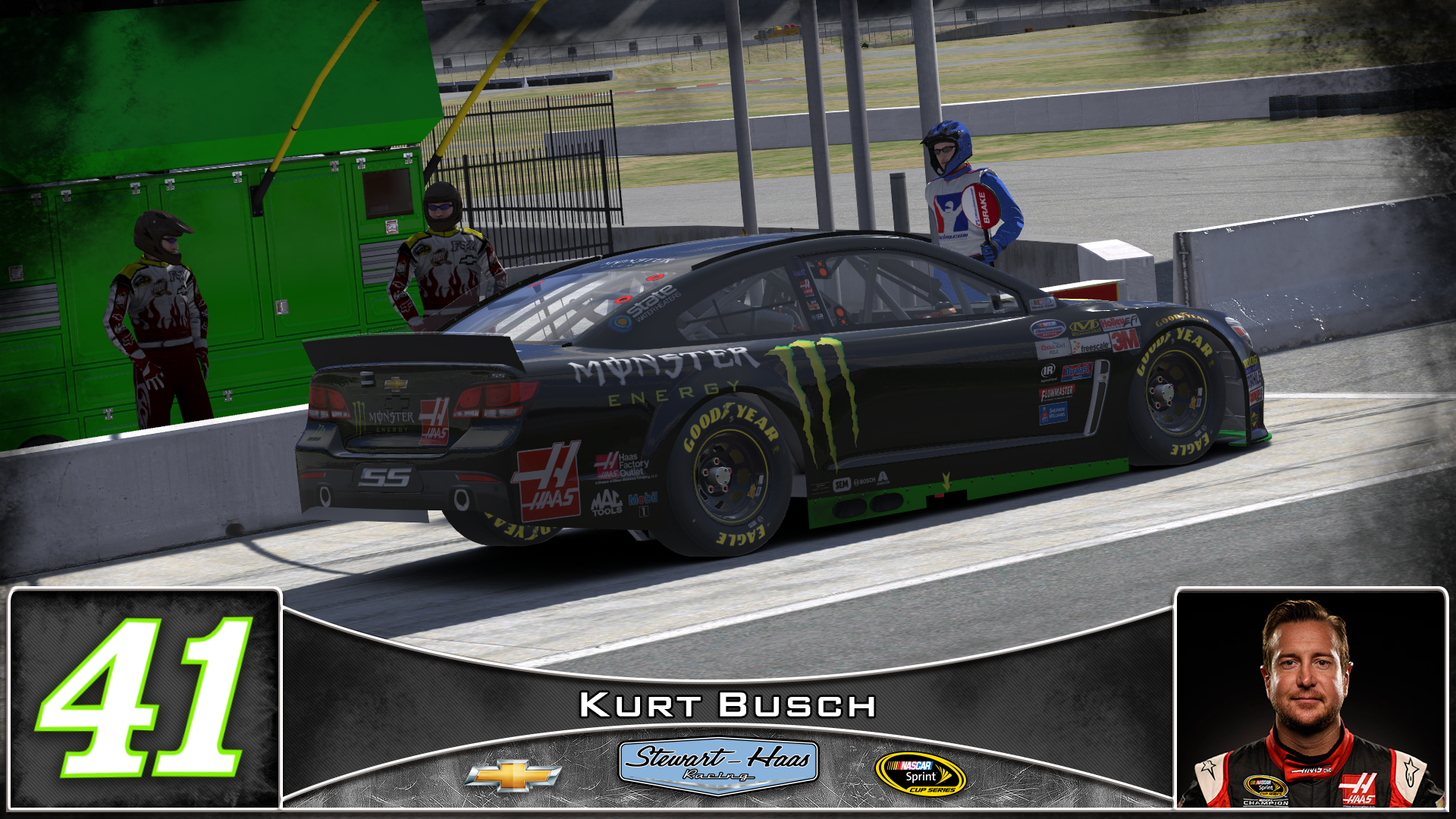 Preview of #41 Kurt Busch Monster Energy 2016 by Udo Washeim