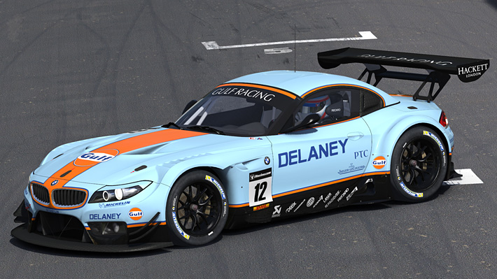 Gulf Racing Bmw Z4 Gt3 By Matthew Nethercote Trading Paints