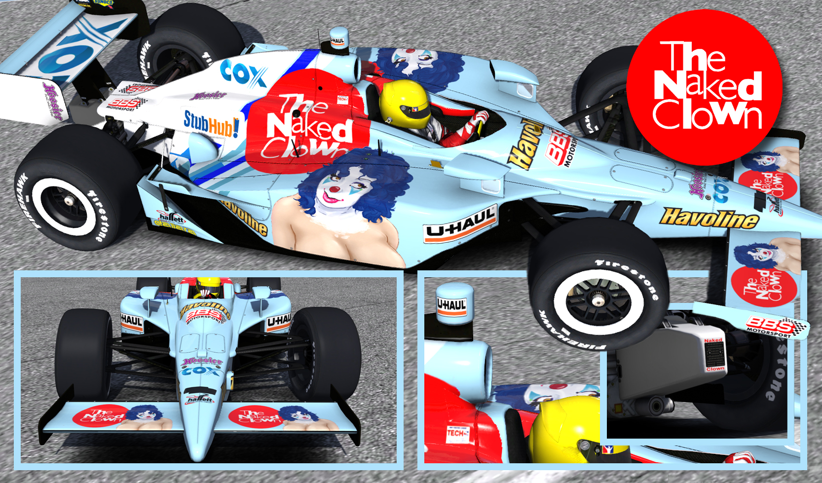 Warm Naked Indy Car HD