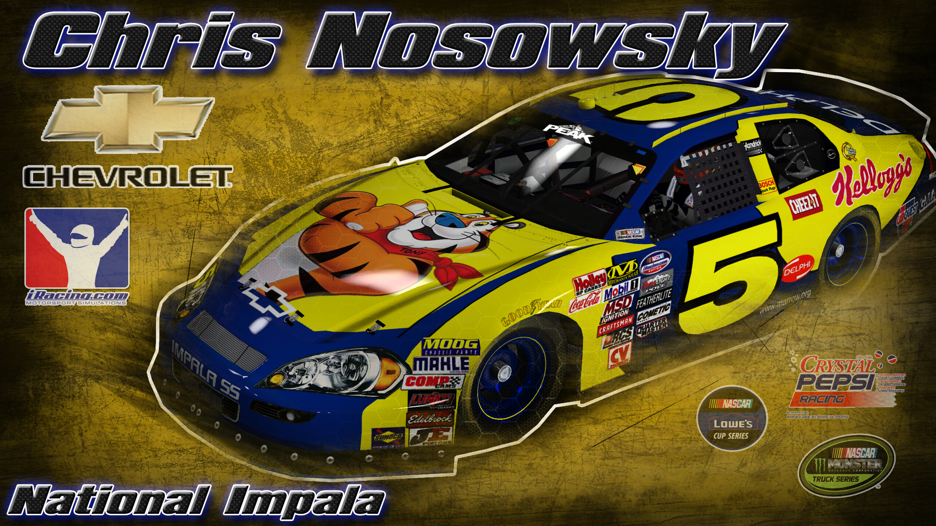 Kyle Busch 2005 Kelloggs Throwback By Chris Nosowsky