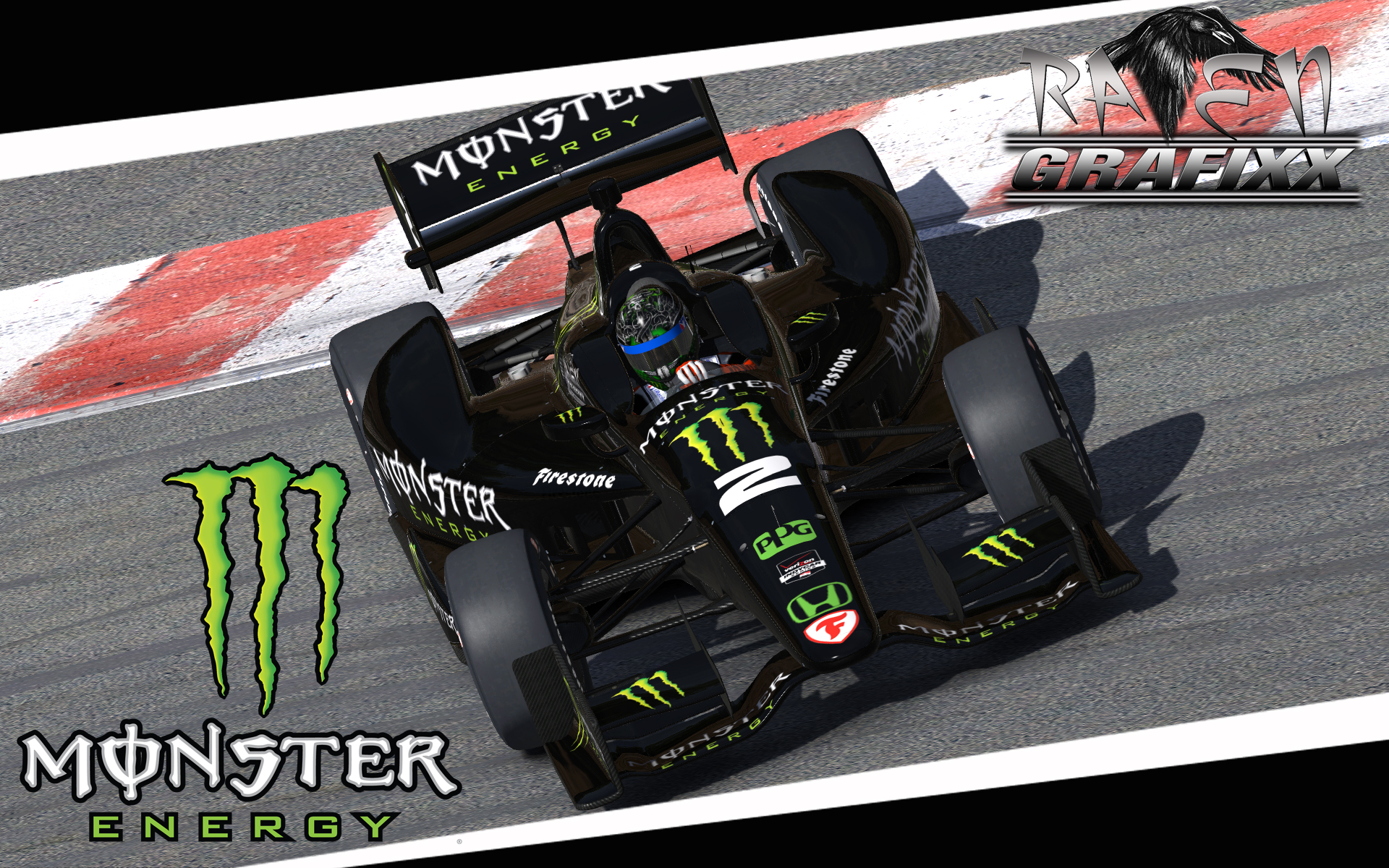 Preview of 2016 Monster Energy Dallara DW12 by Doyle Lowrance