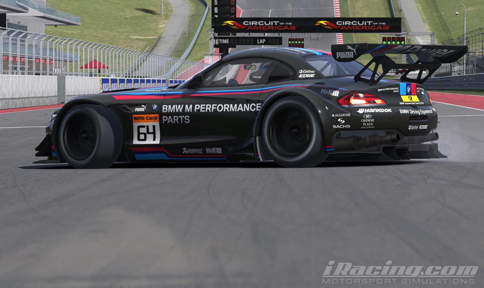 Bmw Performance Parts Black Bmw Z4 Gt3 By Juan Diego