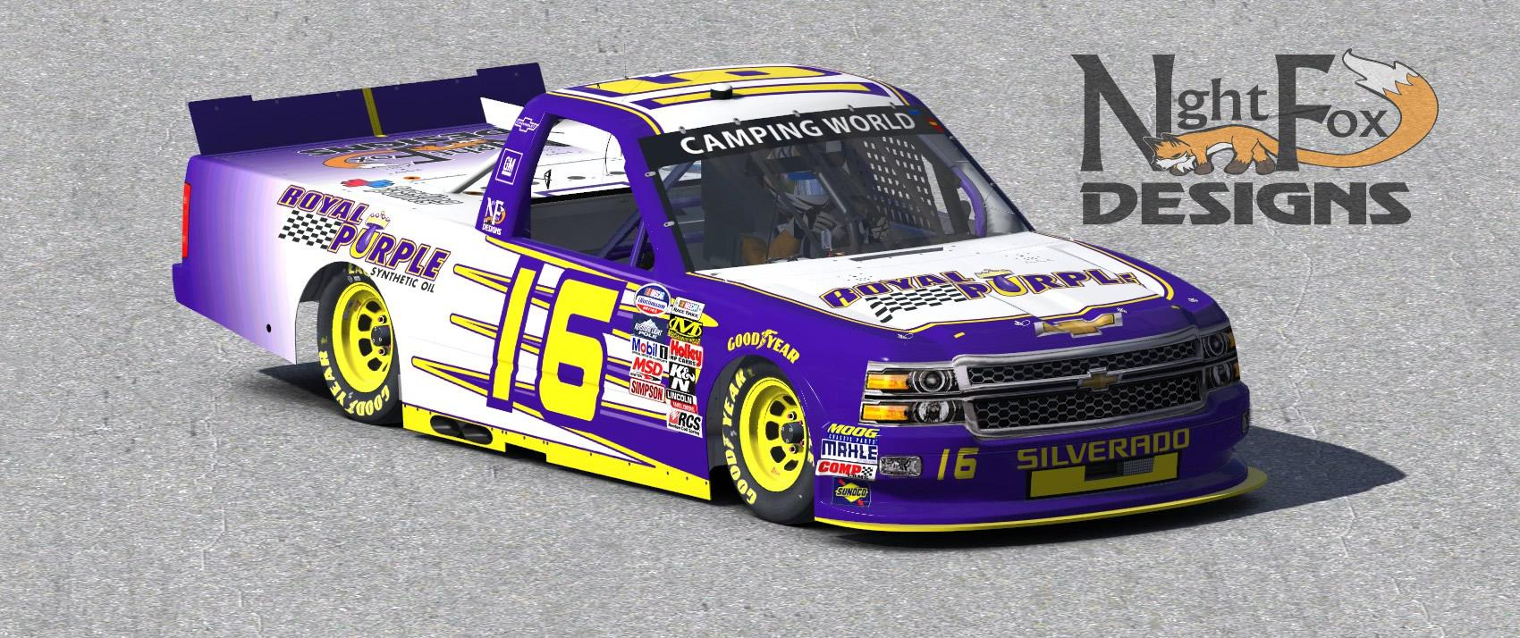 Purple Race Car Livery