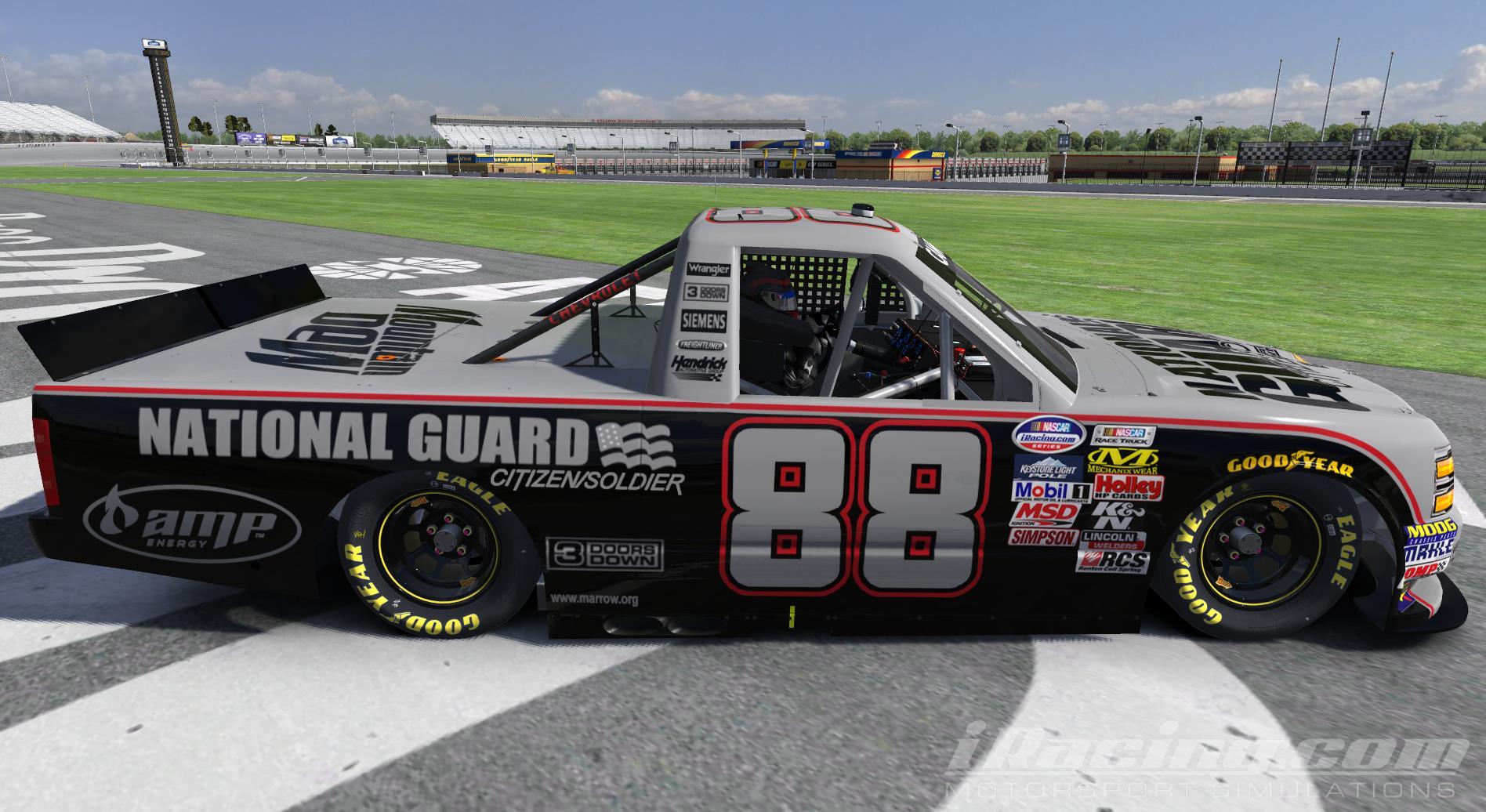 High Quality Dale Earnhardt Jr. National Guard/Citizen Soldier Scheme Chevy Truck Paint  Scheme NASCAR Camping World Chevrolet Silverado By Matt Ballard PRO