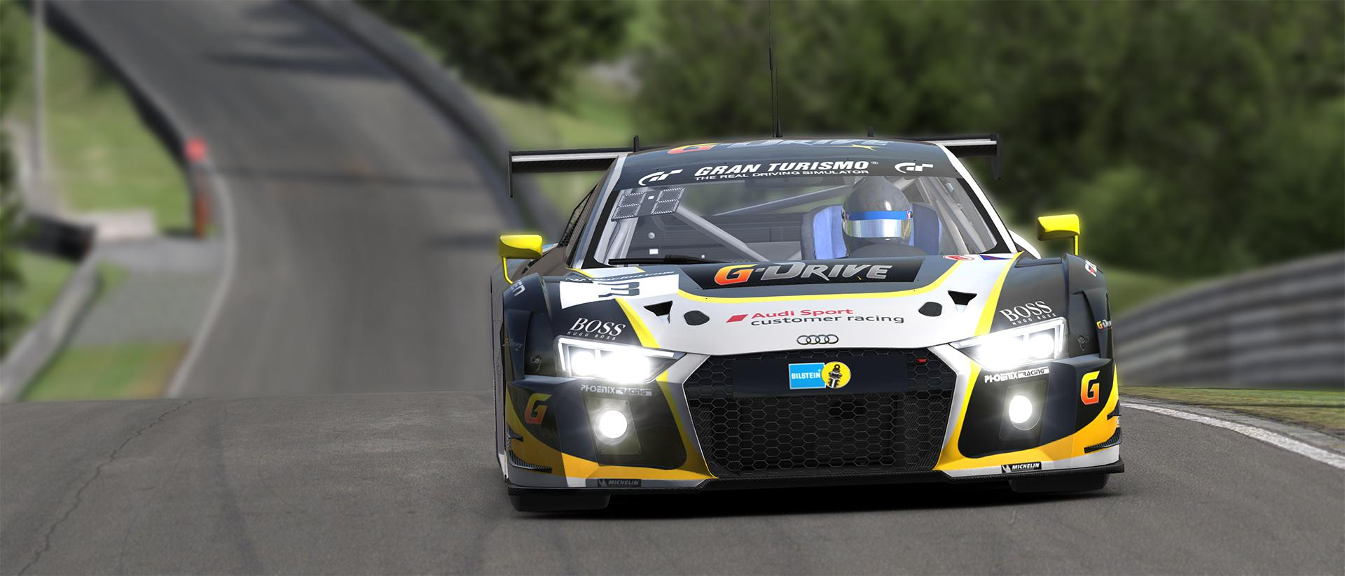 Preview Of G Drive Racing Audi R8 Lms Yellow By Javier M