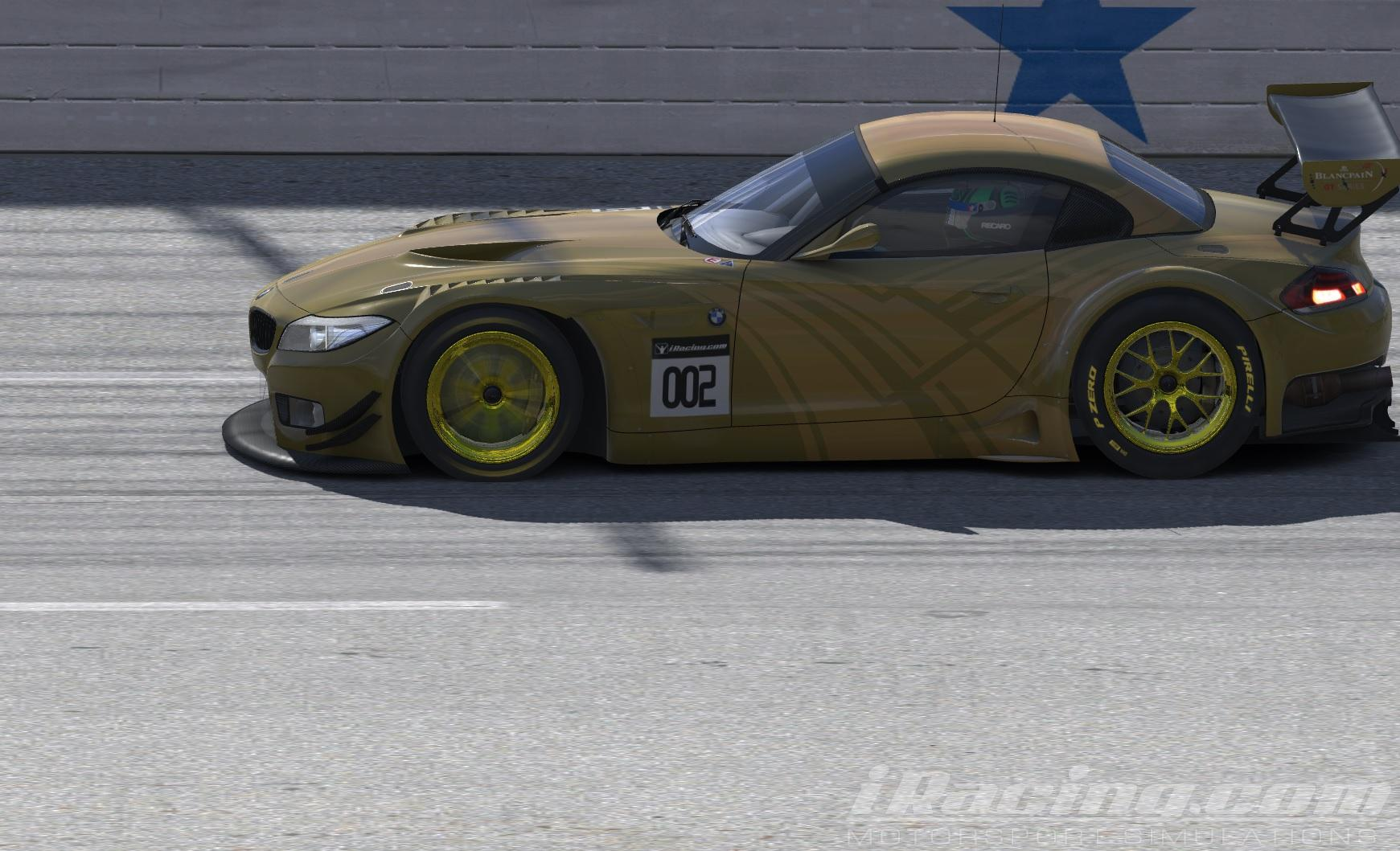 Bmw Z4 Gt3 Gold Carbon With Gold Stripes By Chris Bull