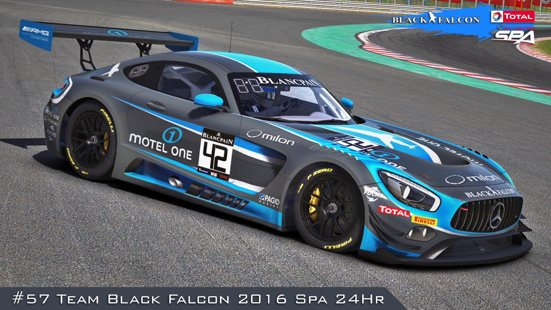 Preview of #57 Team Black Falcon (2016 Spa 24Hr) by Justin S Davis