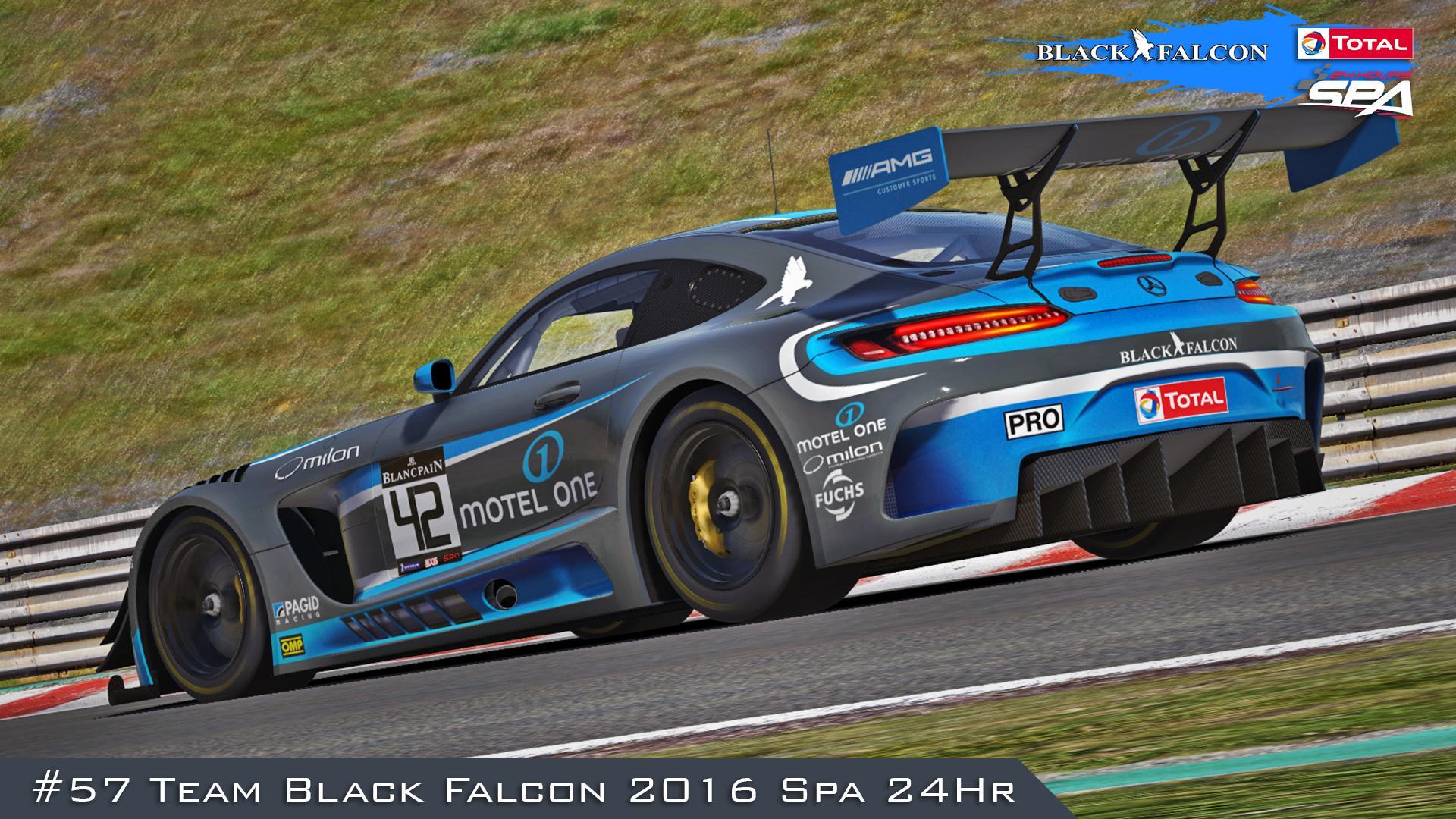 Preview of #57 Team Black Falcon (2016 Spa 24Hr) by Justin S Davis
