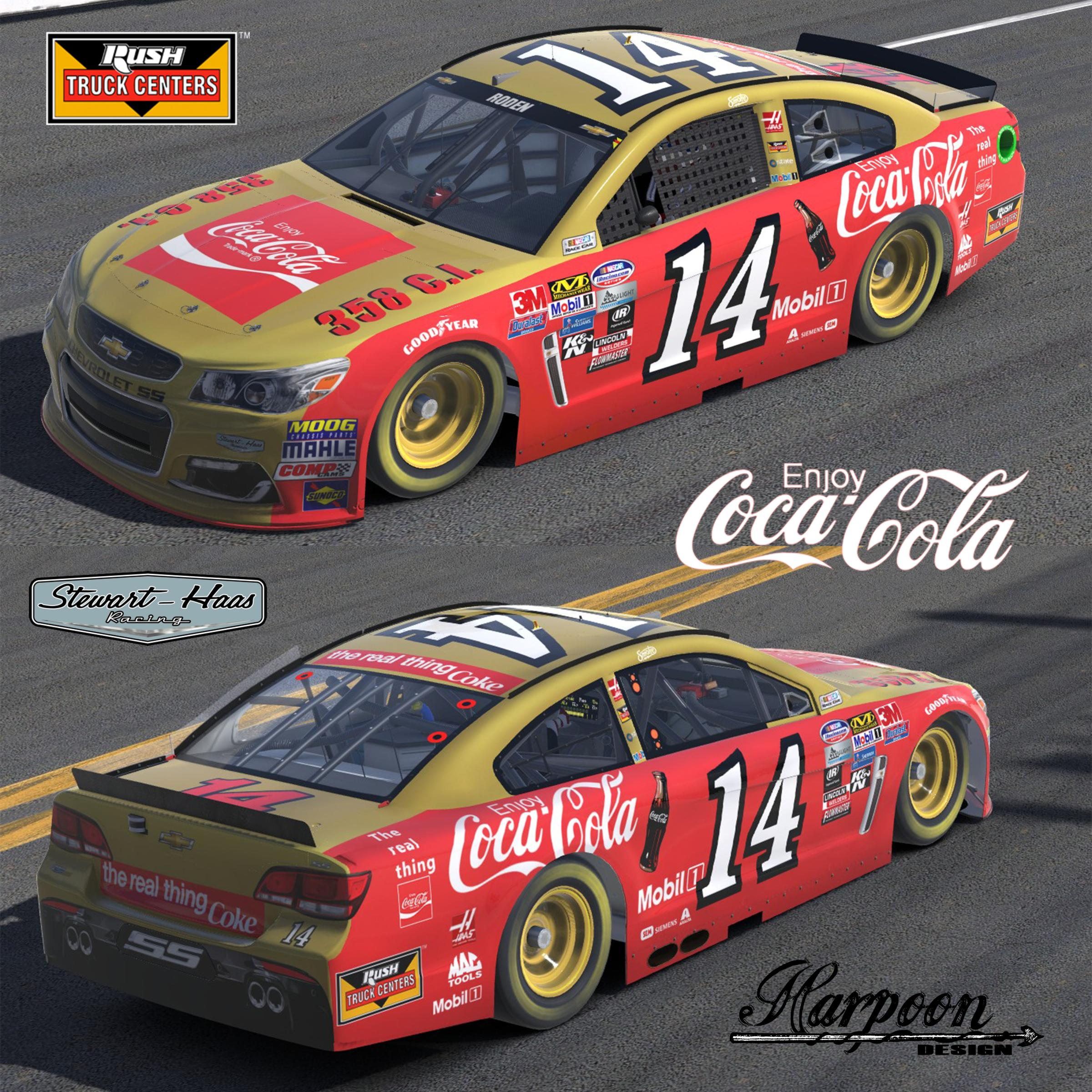 Preview of Tony Stewart Darlington Throwback Coke Scheme by Brantley Roden