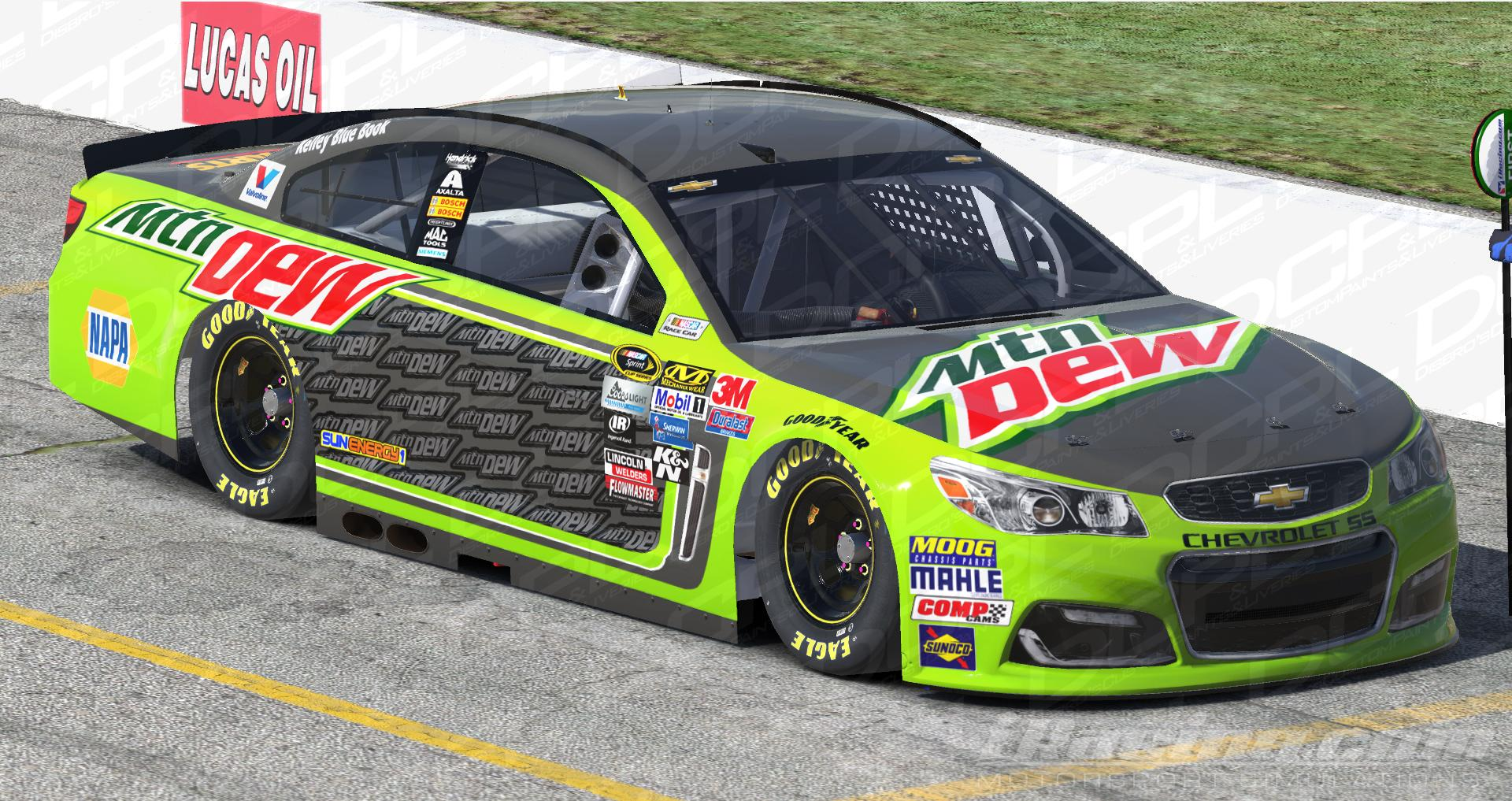 Preview of Chase Elliott Mountain Dew Dover 2016 by Sean Disbro2