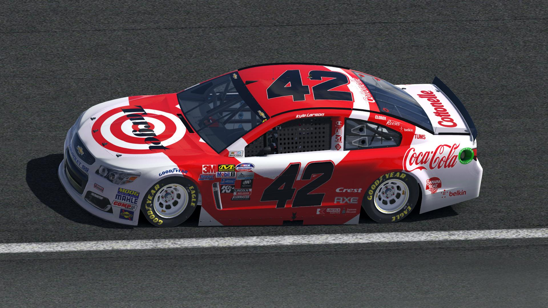 Kyle Larson Throwback 2016 NASCAR Monster Energy Cup Chevrolet SS By Zach Rader