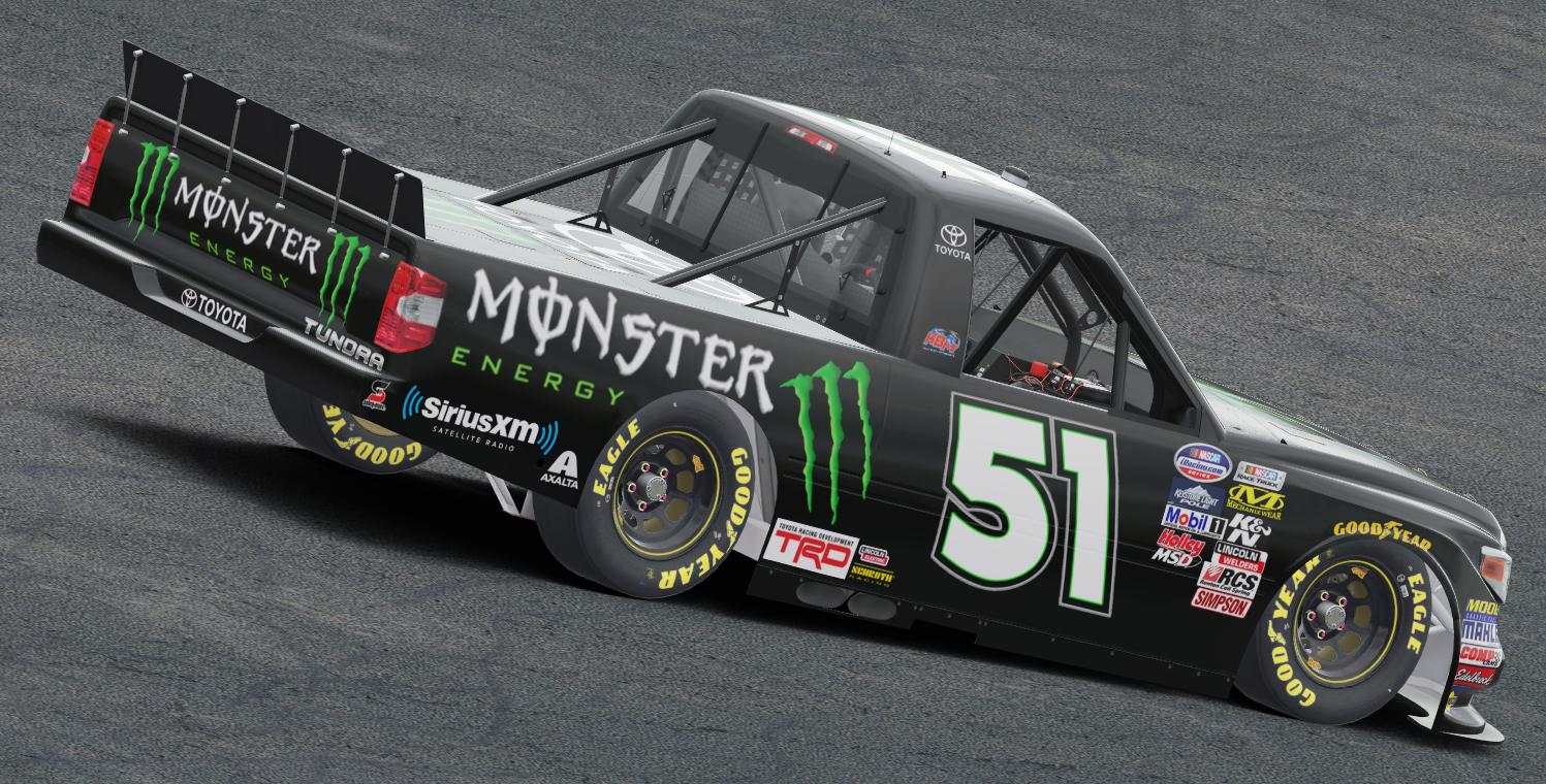 Preview of Kyle Busch Monster Energy Drink Tundra by Preston Pardus