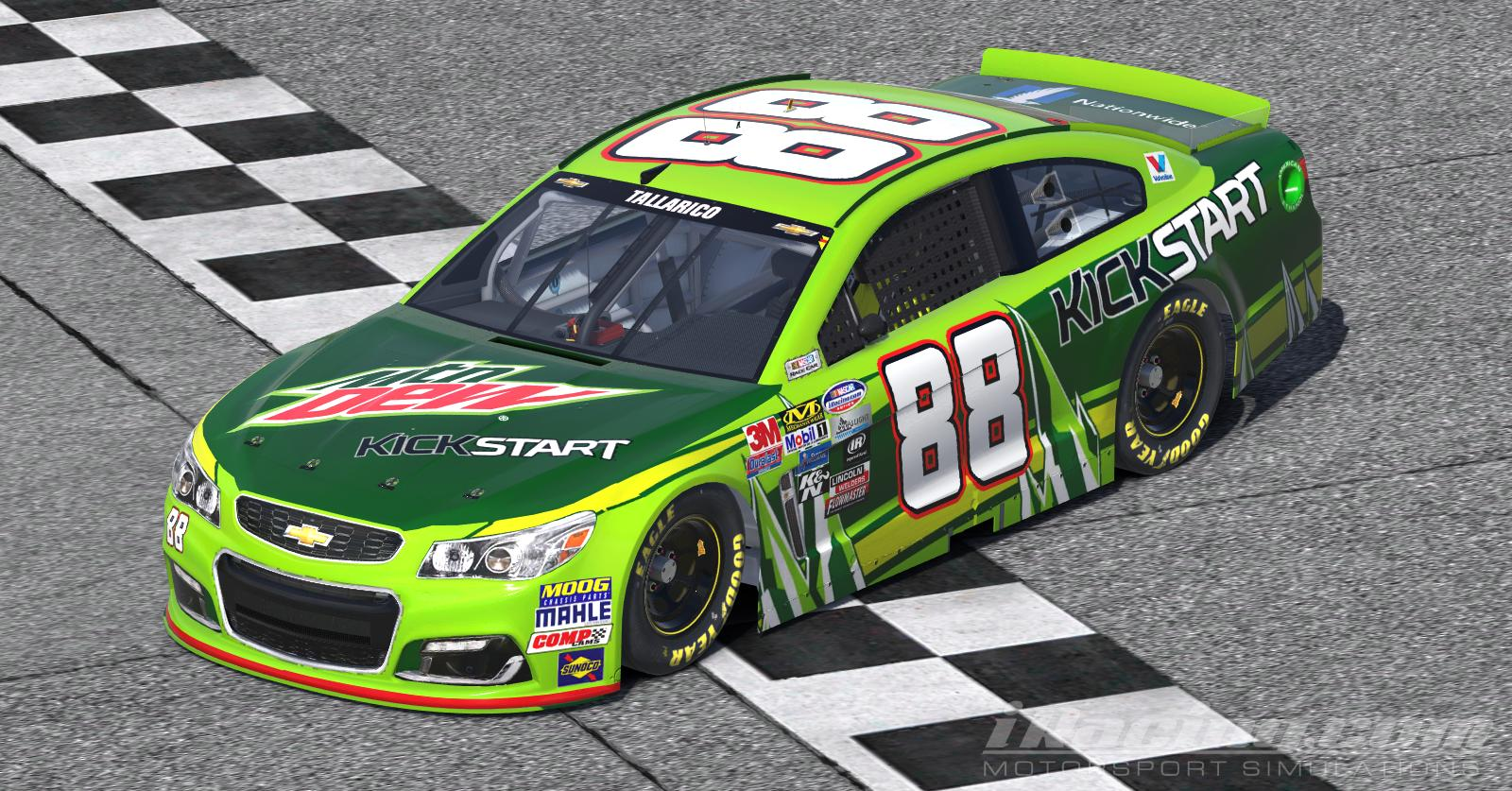 Fictional Dale Jr Mountain Dew Kickstart Chevrolet Ss Nascar Monster Energy Cup By Tanner Tallarico