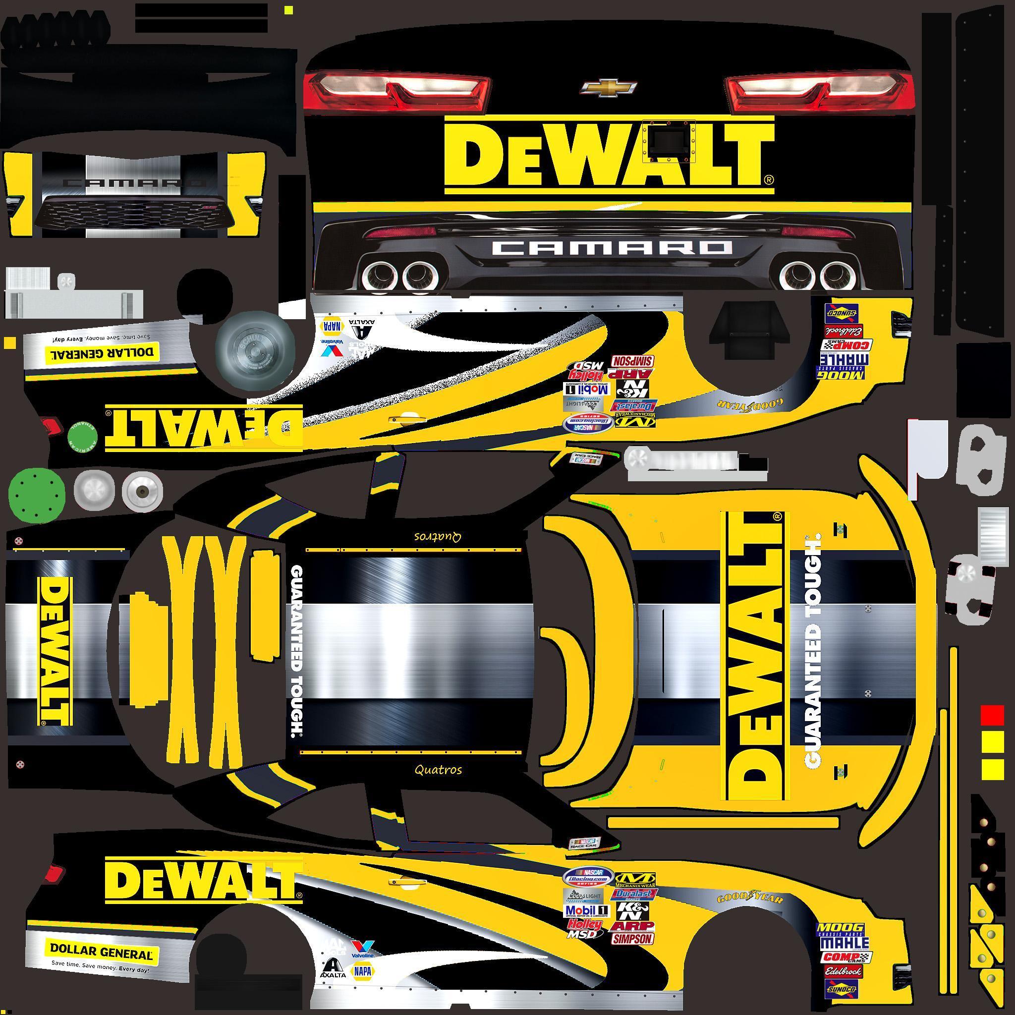 Dewalt Chevy Camaro Custom Paint Scheme by Jose M  - Trading