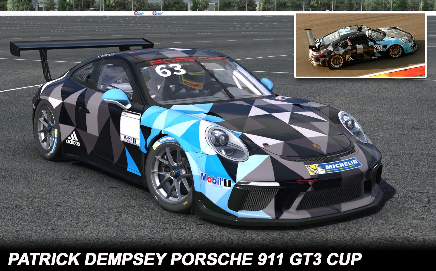 Patrick Dempsey Mobil 1 Porsche Supercup By George Simmons