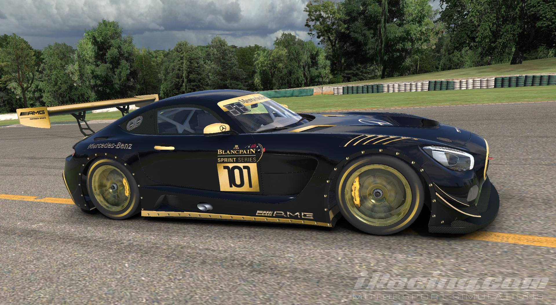 Decal Layer Mercedes Gt3 Black W More Gold Accent Metal Rivets