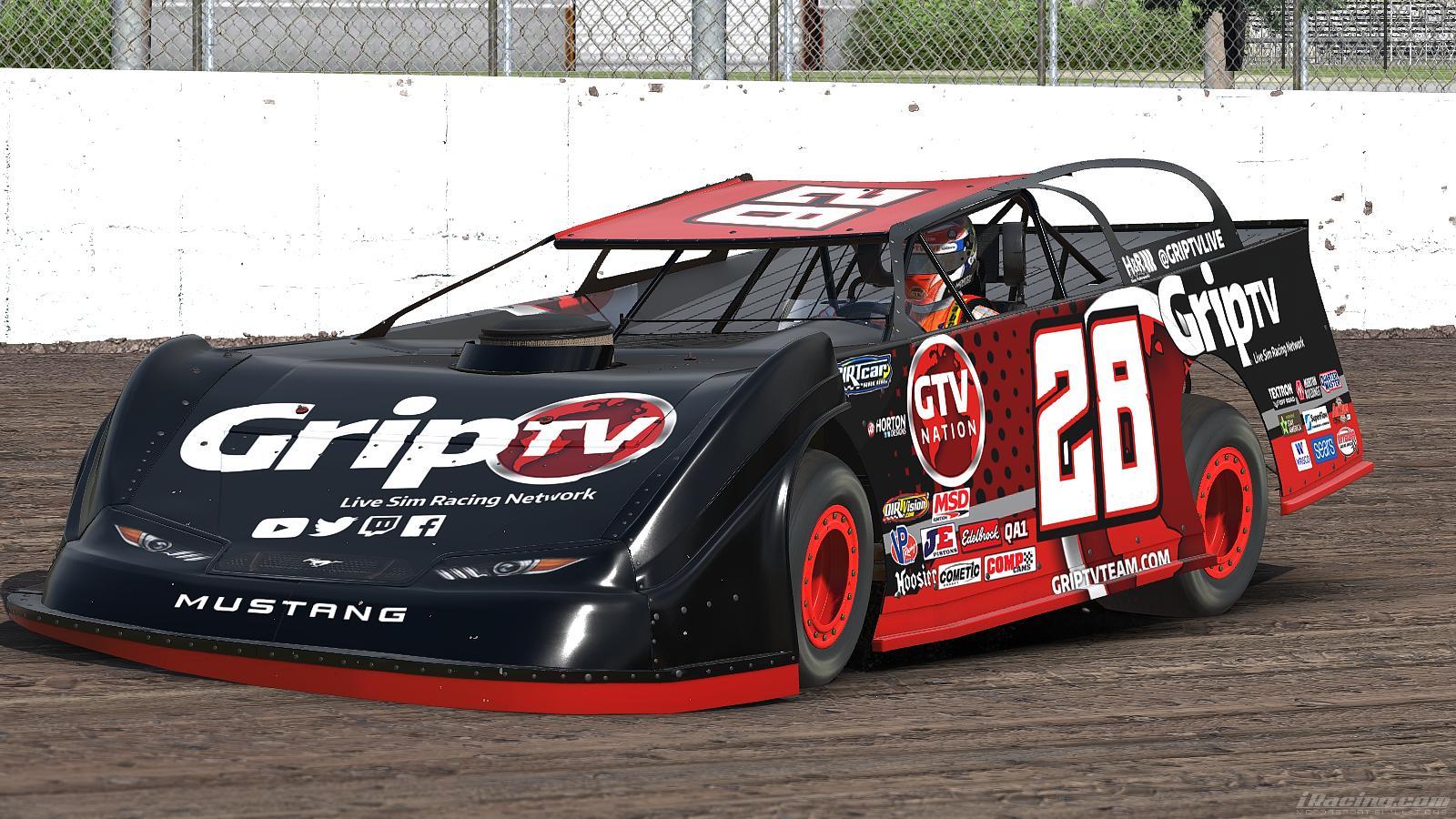 Grip tv dirt late model by ben horton trading paints for Dirt track race car paint schemes