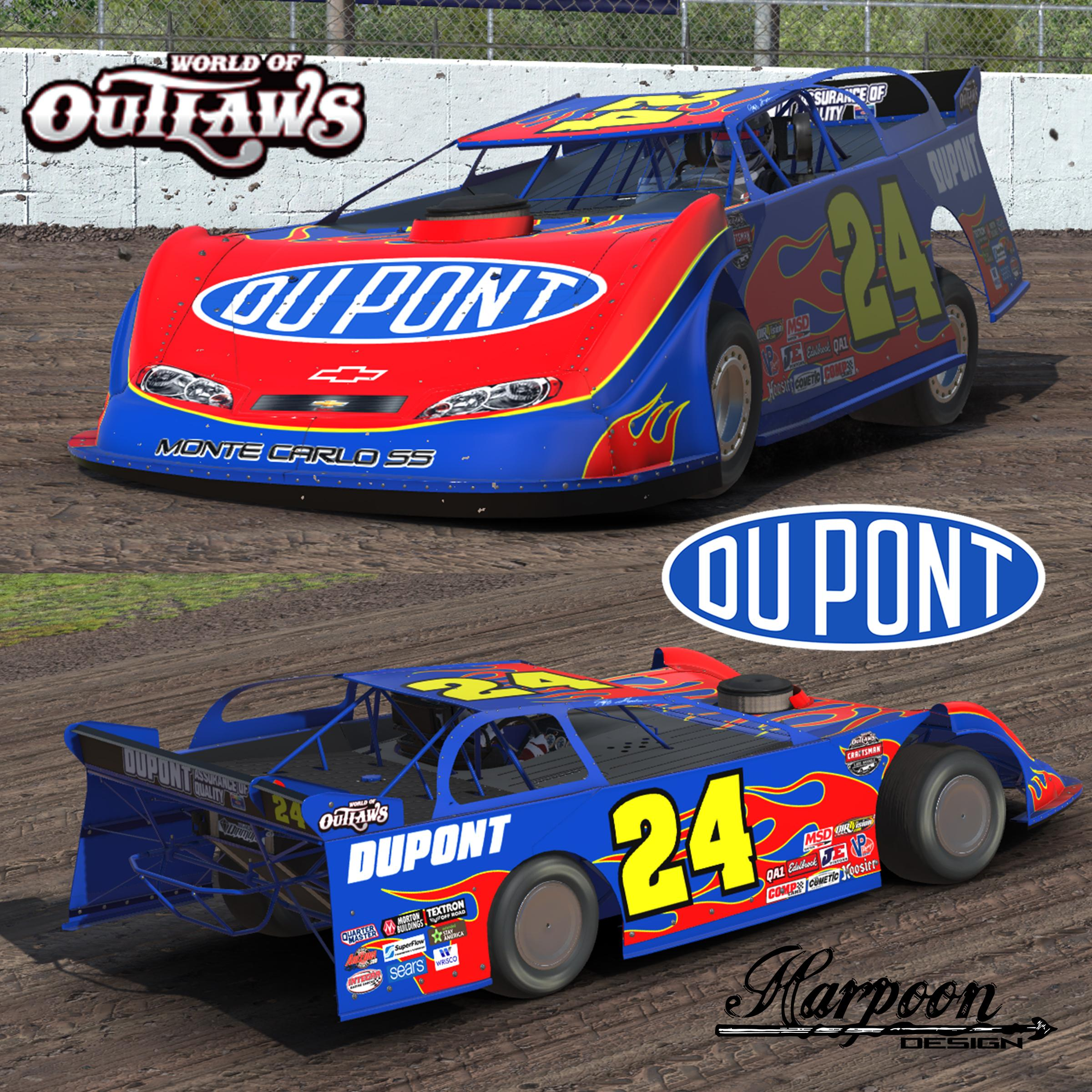 2007 jeff gordon prelude to the dream car by brantley for Dirt track race car paint schemes