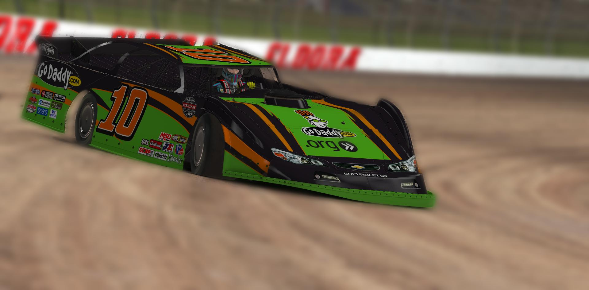 GoDaddy Dirt Late Model Chevrolet by Chris Nosowsky - Trading Paints