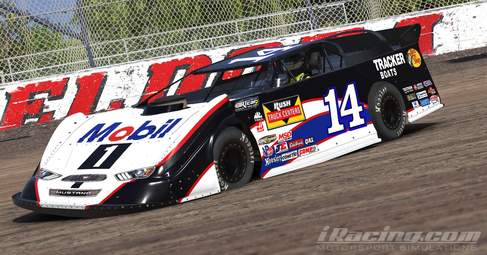 Mobil 1 dirt late model by tanner tallarico trading paints for Dirt track race car paint schemes