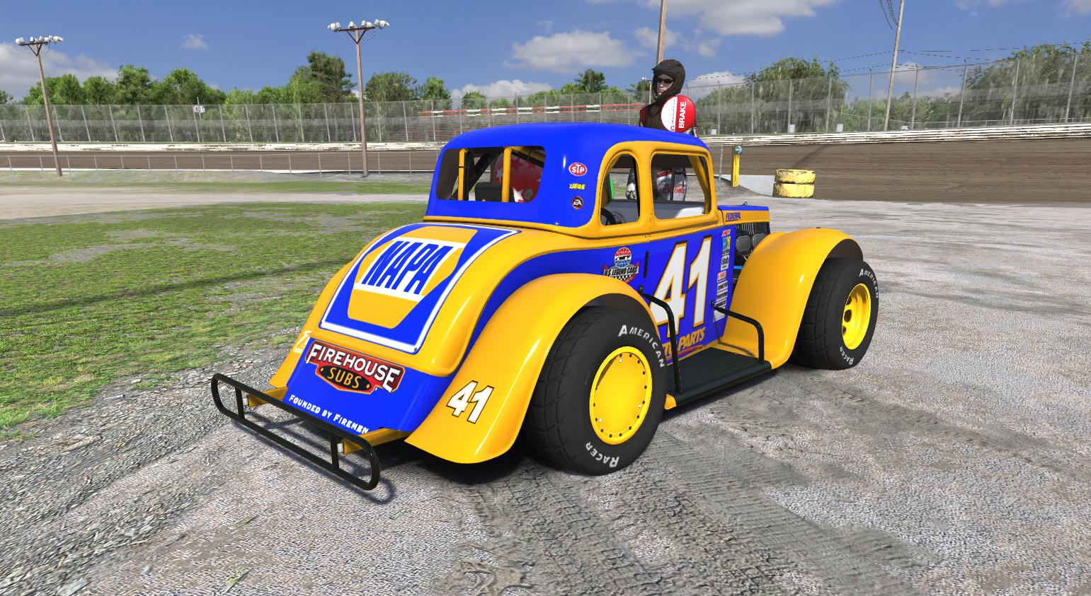 Legends ford34c dirt napa by doug turner trading paints for Dirt track race car paint schemes