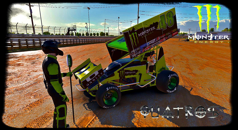 Monster Energy Dirt Sprint Car Custom Paint Scheme by Jose M ...