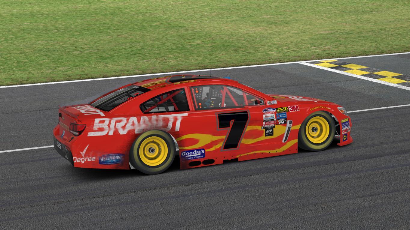 Justin Allgaier Cup Car Brandt #7 (Race Used) by Jack Fellers ...