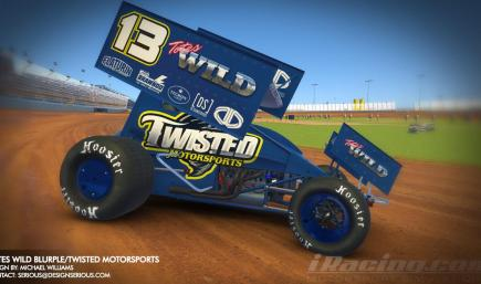 Totes WILD Blurple / Twisted Motorsports Sprint Car by Design Serious