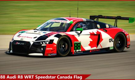 #88 Audi R8 WRT Speedstar Canada Flag