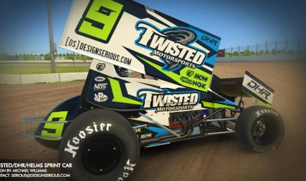 Twisted/DHR/Helms Winged Sprint Car