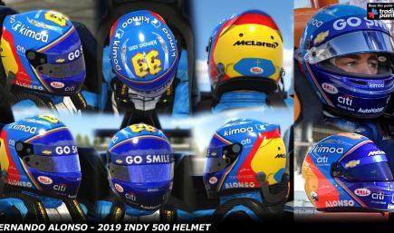 Fernando Alonso - Indy 500 2019 Helmet