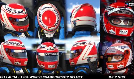 Niki Lauda - 1984 World Championship Helmet - R.I.P Niki