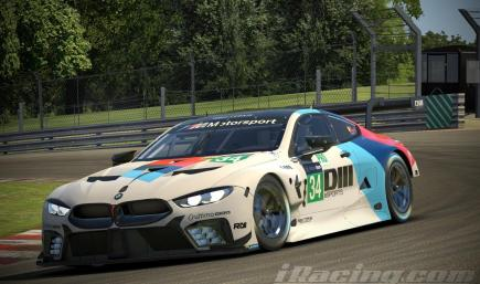 BMW M8 GTE Factory Colors  - DIII Livery (Fictional)
