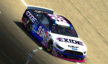 2000 JEFF BURTON EXIDE BATTERIES Ford Throwback Mustang