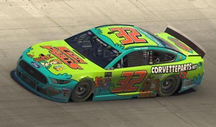 2019 Corey LaJoie Scooby Doo CorvetteParts.net Ford Mustang