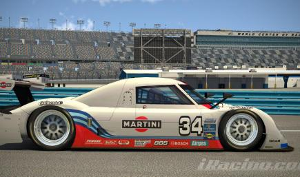 (Fictional) Riley Daytona Prototype - Retro Martini Livery.