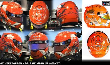 Max Verstappen 2019 - Belgian GP Special Helmet