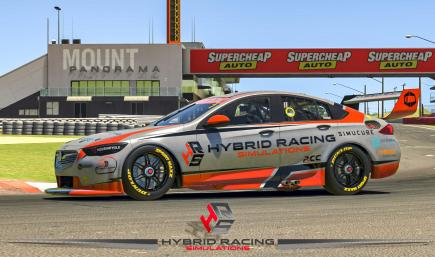 Hybrid Racing Simulations - Holden ZB Commodore Silver