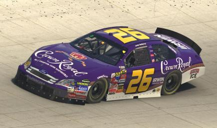 2006 Jamie McMurray Crown Royal Fusion (with Number)