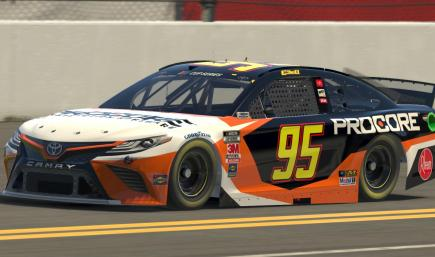 Christopher Bell Procore 2020 Camry Numbered
