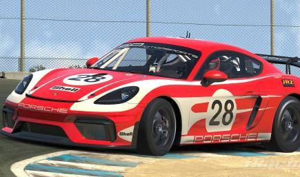 Porsche GT4 Vintage Shell Livery