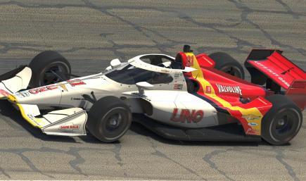 Austin Russell UNO Tim Richmond Throwback Indycar