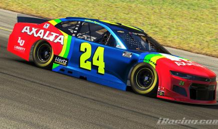 2020 Fictional William Byron Axalta Rainbow #24