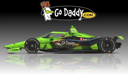 Indycar Dallara IR18 GoDaddy 2020