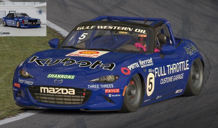Team Johnson - Tru Blu Mazda MX5 2016