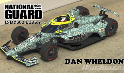 2009 National Guard Panther Racing - #4 Dan Wheldon - Camouflage Edition