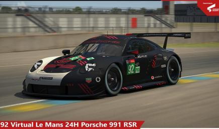 #92 Virtual LeMans 24H Porsche RSR